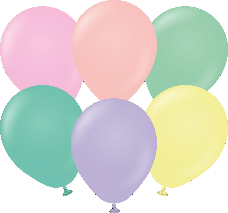 "5"" Kalisan Latex Balloons Standard Pastel Assortment (50 Per Bag)"