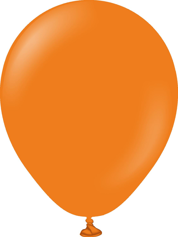 "5"" Kalisan Latex Balloons Standard Orange (50 Per Bag)"