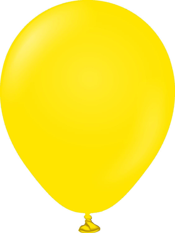 "5"" Kalisan Latex Balloons Standard Yellow (50 Per Bag)"