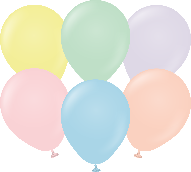 "5"" Kalisan Latex Balloons Pastel Matte Macaroon Assortment (50 Per Bag)"