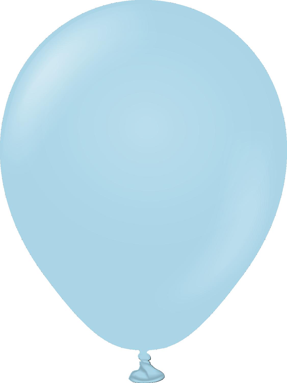 """5"""" Kalisan Latex Balloons Pastel Matte Macaroon Blue (50 Per Bag)"""