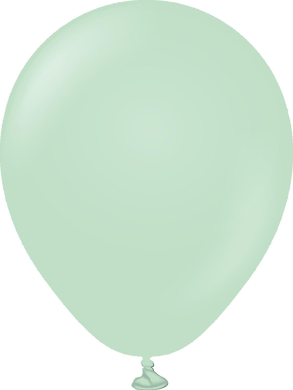 """5"""" Kalisan Latex Balloons Pastel Matte Macaroon Green (50 Per Bag)"""