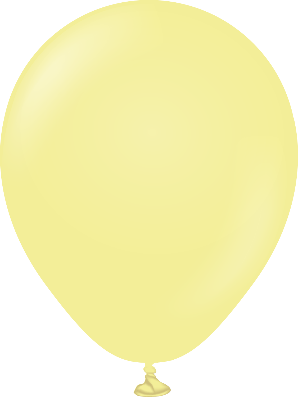 """5"""" Kalisan Latex Balloons Pastel Matte Macaroon Yellow (50 Per Bag)"""