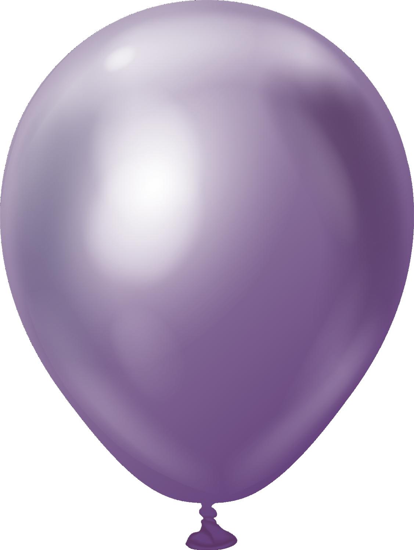 "5"" Kalisan Latex Balloons Mirror Violet (50 Per Bag)"