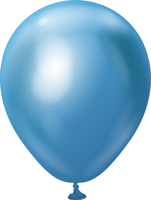 "5"" Kalisan Latex Balloons Mirror Blue (50 Per Bag)"
