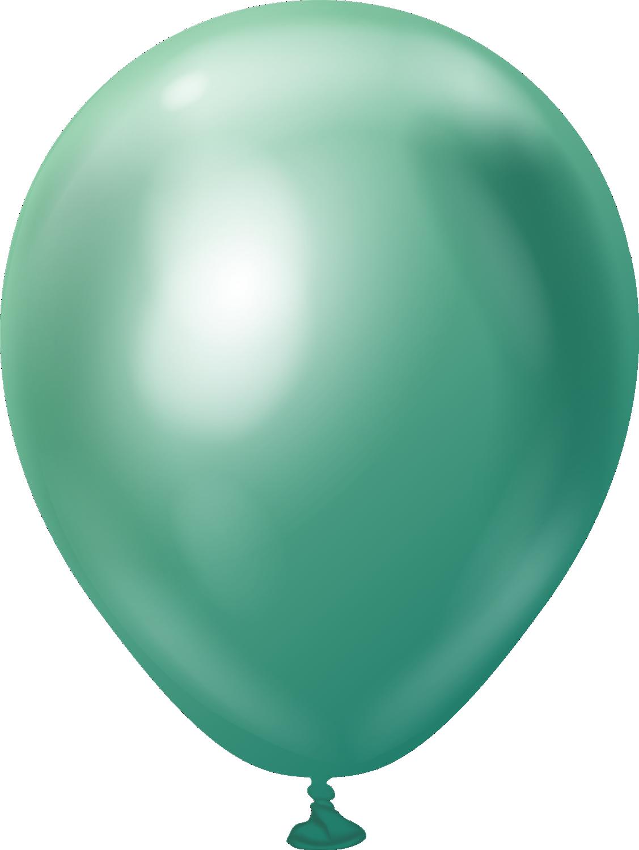 "5"" Kalisan Latex Balloons Mirror Green (50 Per Bag)"
