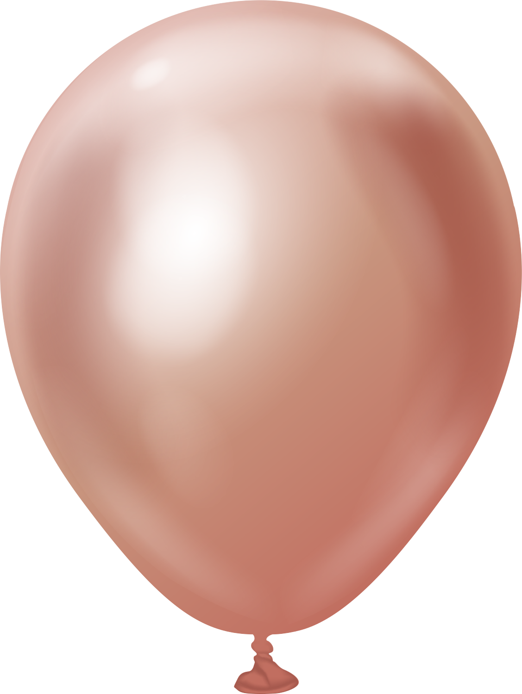 "5"" Kalisan Latex Balloons Mirror Rose Gold (50 Per Bag)"