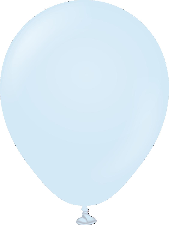 """5"""" Kalisan Latex Balloons Pastel Matte Macaroon Baby Blue (50 Per Bag)"""