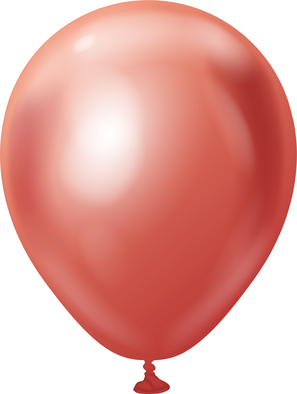 "5"" Kalisan Latex Balloons Mirror Red (50 Per Bag)"