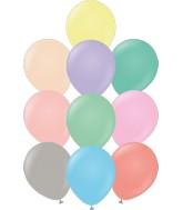 "12"" Kalisan Latex Balloons Standard Pastel Assortment (50 Per Bag)"