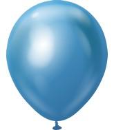 "18"" Kalisan Latex Balloons Mirror Blue (25 Per Bag)"