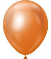 "18"" Kalisan Latex Balloons Mirror Copper (25 Per Bag)"
