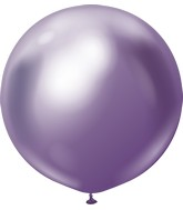 "24"" Kalisan Latex Balloons Mirror Violet (5 Per Bag)"