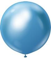 "24"" Kalisan Latex Balloons Mirror Blue (5 Per Bag)"