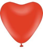 "12"" Kalisan Latex Heart Balloons Standard Red (50 Per Bag)"