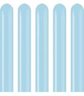 260 Kalisan Twisting Latex Balloons Pastel Matte Macaroon Blue (50 Per Bag)