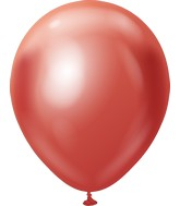 "12"" Kalisan Latex Balloons Mirror Red (50 Per Bag)"