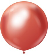 "24"" Kalisan Latex Balloons Mirror Red (5 Per Bag)"