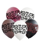 "12"" Assorted Snake 4 Side Print Latex Balloons (25 Per Bag) 4 Side Print"