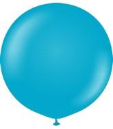 "24"" Kalisan Latex Balloons Retro Blue Glass (5 Per Bag)"