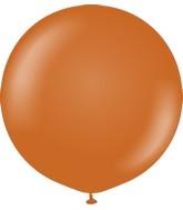 """36"""" Kalisan Latex Balloons Retro Rust Orange (2 Per Bag)"""