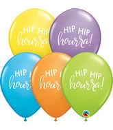 "11"" Latex Balloons Bright Patsel Assorted (50 Per Bag) Simplement Hip Hip Hourra"