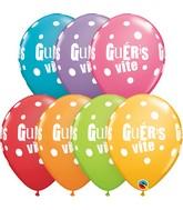 "11"" Latex Balloons Festive Assorted (50 Per Bag) Gueris Vite Pois"