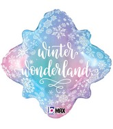"18"" MAX Float Snowflake Wonderland Foil Balloon"