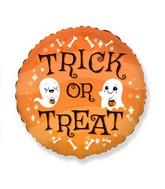 "18"" Halloween Trick Or Treat Foil Balloon"