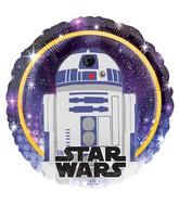 """18"""" Star Wars Galaxy R2-D2 Foil Balloon"""