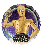 "18"" Star Wars Galaxy C-3P0 Foil Balloon"