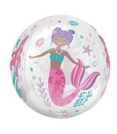 "16"" Orbz Clear Shimmering Mermaid Foil Balloon"
