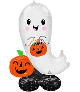 """53"""" Airloonz Consumer Inflatable Halloween Ghost Foil Balloon"""