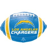 """18"""" Los Angeles Chargers Team Colors Foil Balloon"""