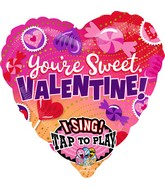 """29"""" Sing-A-Tune Candy Sweet Valentine Foil Balloon"""