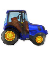 "29"" Tractor Blue Foil Balloon"