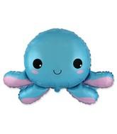 """25"""" Happy Octopus Foil Balloon"""