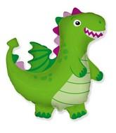 "36"" Dragon Green Foil Balloon"