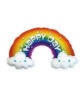"""14"""" Airfill Only Birthday Rainbow Foil Balloon"""