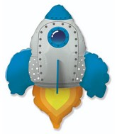"30"" Rocket Blue Foil Balloon"