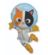"""38"""" Halloween Cat Astronaut Foil Balloon"""