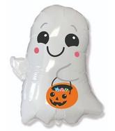 """30"""" Halloween Ghost Foil Balloon"""
