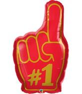 """37"""" Shape #1 Finger Foil Balloon Packaged"""