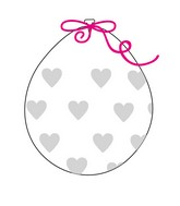 """18"""" Stuffing Balloons (25 Per Bag) Decomex Clear BIG HEART with WHITE INK"""