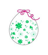 """18"""" Stuffing Balloons (25 Per Bag) Decomex Clear DAISIES YOU with LIME GREEN INK"""