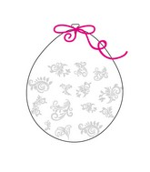 """18"""" Stuffing Balloons (25 Per Bag) Decomex Clear FILIGREE with WHITE INK"""