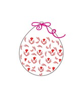 """18"""" Stuffing Balloons (25 Per Bag) Decomex Clear ROSE with RED INK"""