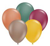 "11"" Autumn Assortment Tuf Tex Latex Balloons 100 CT"