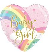 "18"" Pastel Rainbow Girl Holographic Oaktree Foil Balloon"