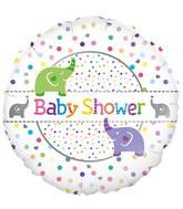 """18"""" Baby Shower Elephants Oaktree Foil Balloon"""